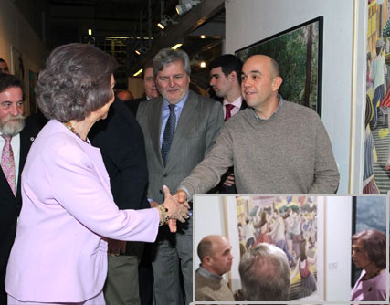 Visit of Queen Sofia to the exhibition.